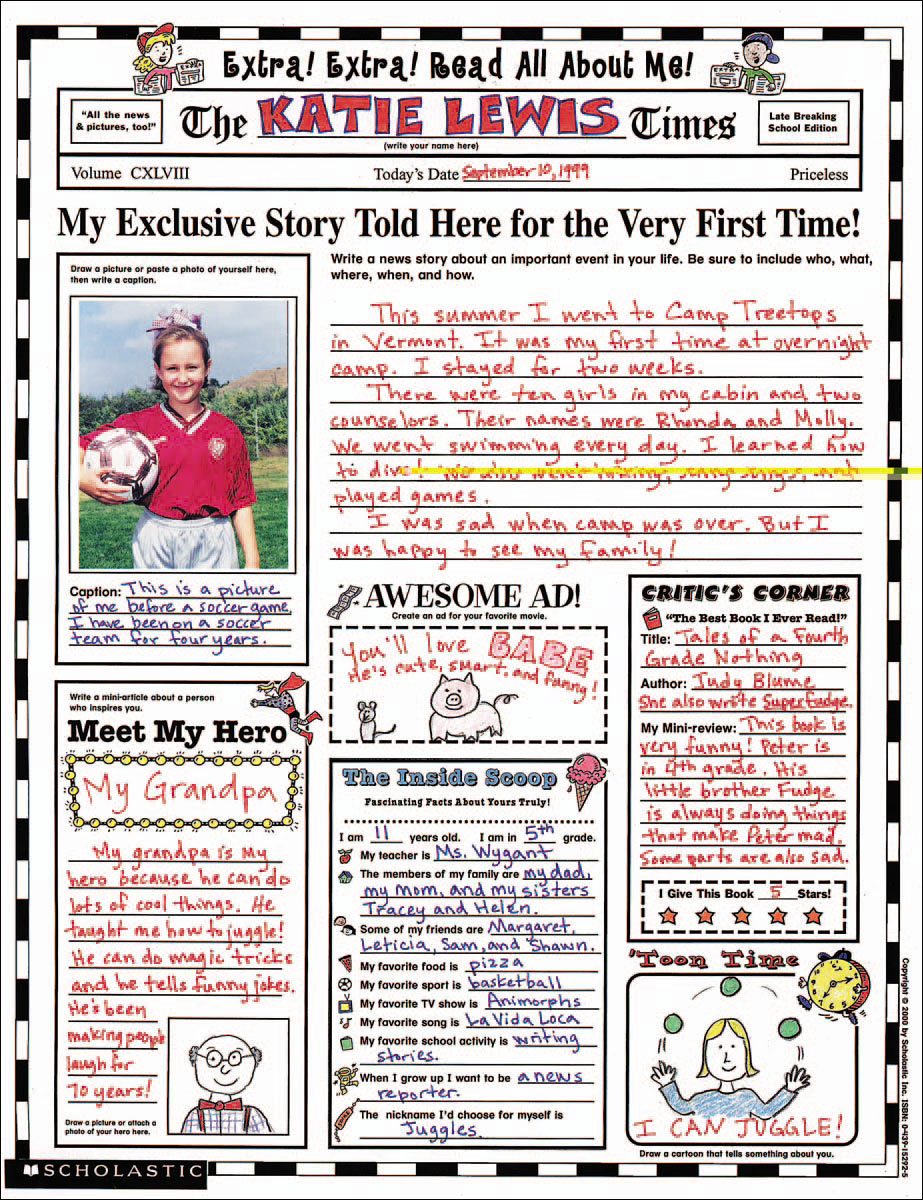 Teaching resources teacher express for ebooks binders supplies all about me poster fandeluxe Gallery