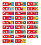 Alphabet (upper- and lowercase letters) Pocket Chart Add-ons