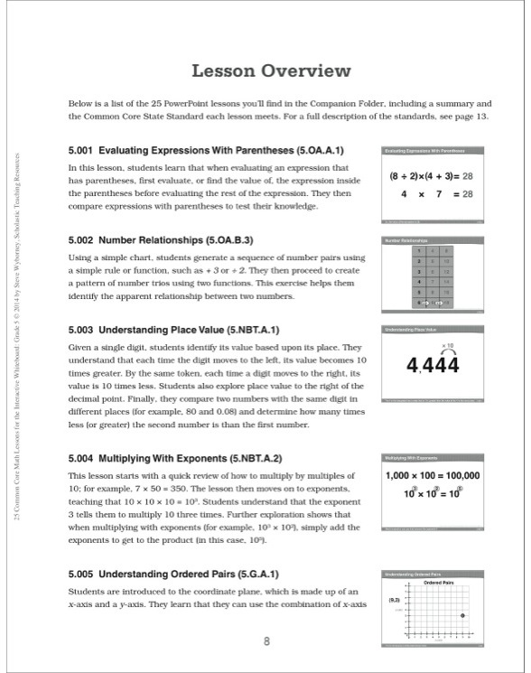 25 Common Core Math Lessons for the Interactive Whiteboard ...