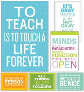 product inspirational quotes poster set bulletin board
