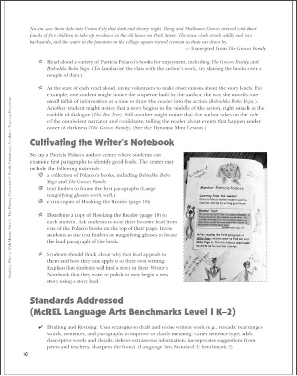 teaching writing with mentor texts in the primary classroom by