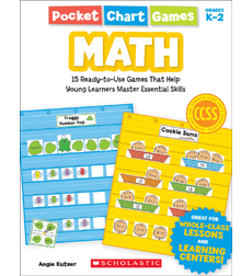 Pocket Chart Games: Math 9780545568302