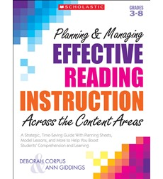 Planning & Managing Effective Reading Instruction Across the Content Areas 9780545074803