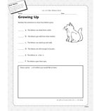 How Kittens Grow - Activity Sheet