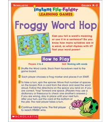 Instant File-Folder Learning Games: Froggy Word Hop