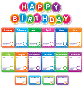 Color Your Classroom: Birthdays Mini Bulletin Board