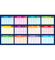 Fill-in Monthly Calendars Bulletin Board