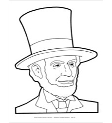 Abraham Lincoln Reproducible Pattern