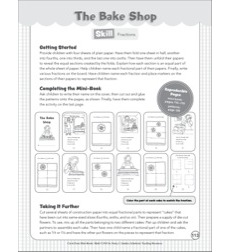 The Bake Shop (Fractions): Cut & Paste Mini-Book