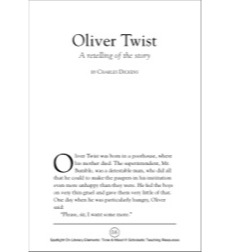 Oliver Twist by Charles Dickens, A Retelling of the Story (Tone & Mood): Spotlight On Literary Elements