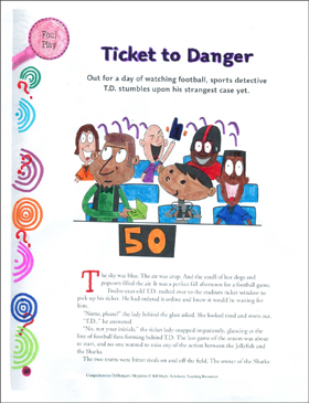 Comprehension Cliffhanger Mystery: Ticket to Danger (making connections)