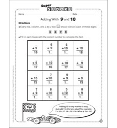 Sudoku Puzzle: Adding With 9 and 10