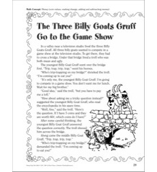 The Three Billy Goats Gruff (Money): A Funny Fairy Tale Math Activity