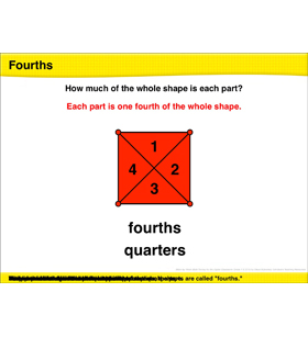 Math Review: Fourths, Identifying Halves and Fourths