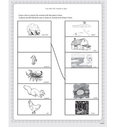 Usborne 1001 Animals To Spot - Activity Sheet