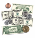 U.S. Coins and Bills Accent Punch-Outs