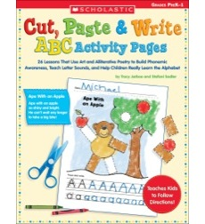 Cut, Paste & Write ABC Activity Pages
