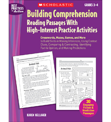 Building Comprehension: Reading Passages With High-Interest Practice Activities