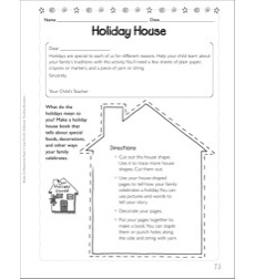 Holiday House (Shape Book): Social Studies Homework Page