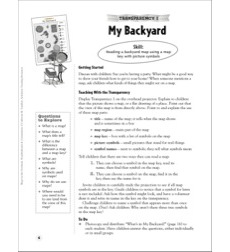My Backyard (Reading a Backyard Map): Map Skills - Grades 1-3