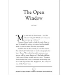 The Open Window, by Saki (Character): Spotlight On Literary Elements