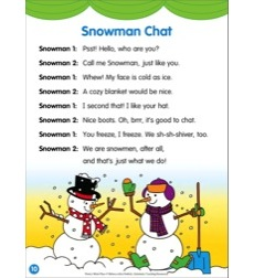 Snowman chat: Poetry Mini-Play