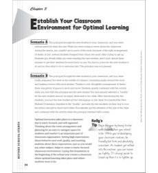 Establish Your Classroom Environment for Optimal Learning: Classroom Management (Before School Starts)