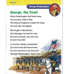 George Washington (February/Presidents' Day): Famous American of the Month