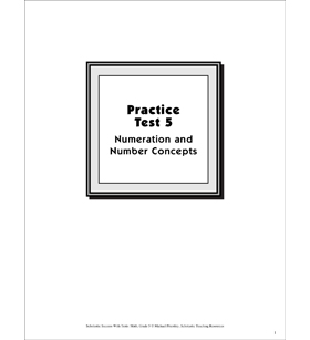 Numeration and Number Concepts Practice Test 5: Math Skills (Grade 5)