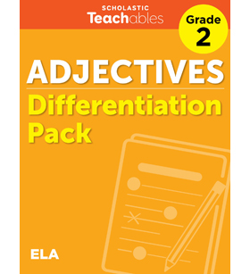 Adjectives Grade 2 Differentiation Pack