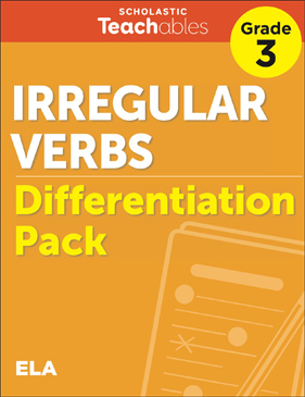 Irregular Verbs Grade 3 Differentiation Pack