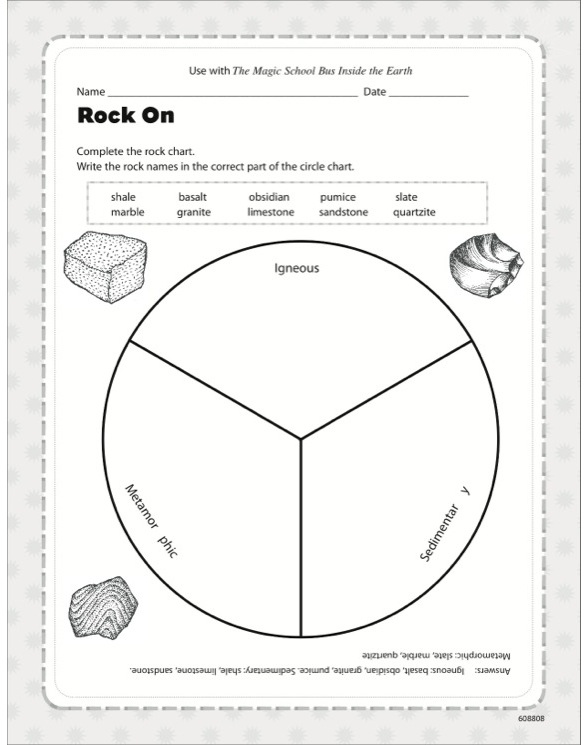 The magic school bus inside the earth by joanna cole magic school bus inside the earth the activity sheet ccuart Image collections