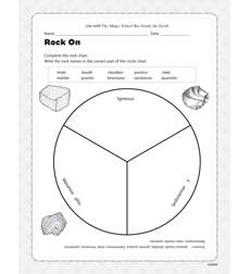 Magic School Bus Inside The Earth Activity Sheet