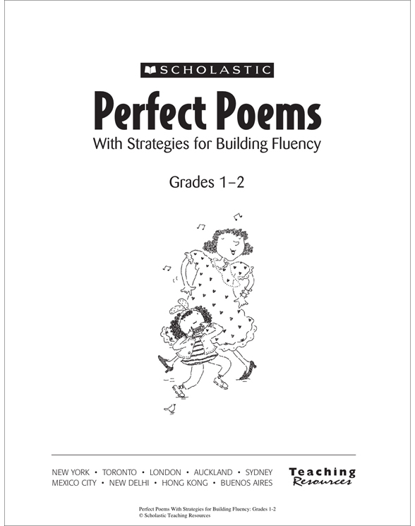 Perfect Poems With Strategies For Building Fluency Grades 1