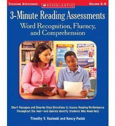 3–Minute Reading Assessments: Word Recognition, Fluency, and Comprehension: Grades 5–8