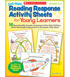 Just-Right Reading Response Activity Sheets for Young Learners