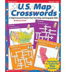 U S Map Crosswords By Spencer Finch - Us map crosswords scholastic professional books answers