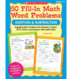 50 Fill-in Math Word Problems: Addition & Subtraction