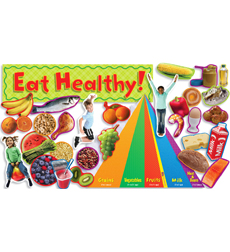 Nutrition with Food Pyramid Mini Bulletin Board