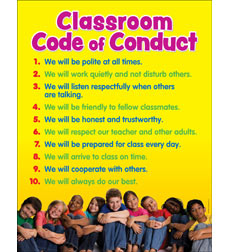 Classroom Code of Conduct Chart