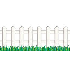 White Picket Fence Jumbo Borders