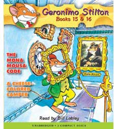 Geronimo Stilton Books #15: The Mona Mousa Code & #16: A Cheese-Colored Camper