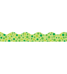 Green Polka Dots Scalloped Trimmer