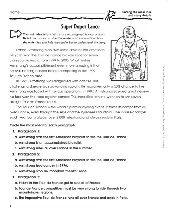 Worksheet Reading Comprehension Grade 4 scholastic success with reading comprehension grade 4 by see inside image