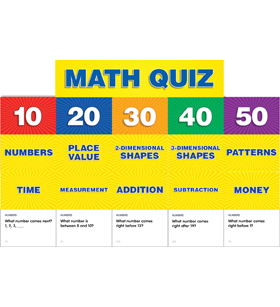 Math Quiz: Grades K-1 Pocket Chart Add-ons