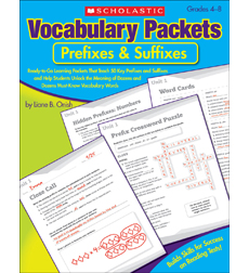 Vocabulary Packets: Prefixes & Suffixes