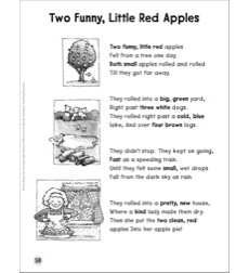 Two Funny, Little Red Apples (Adjectives): Sight Words Poem
