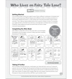 Who Lives on Fairy Tale Lane? (Problem Solving): Cut & Paste Mini-Book