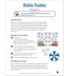 File-Folder Game - Addition: Bubble Doubles (adding identical addends)