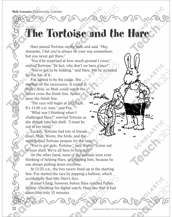 The Tortoise And The Hare Elapsed Time Calendar A Funny Fairy